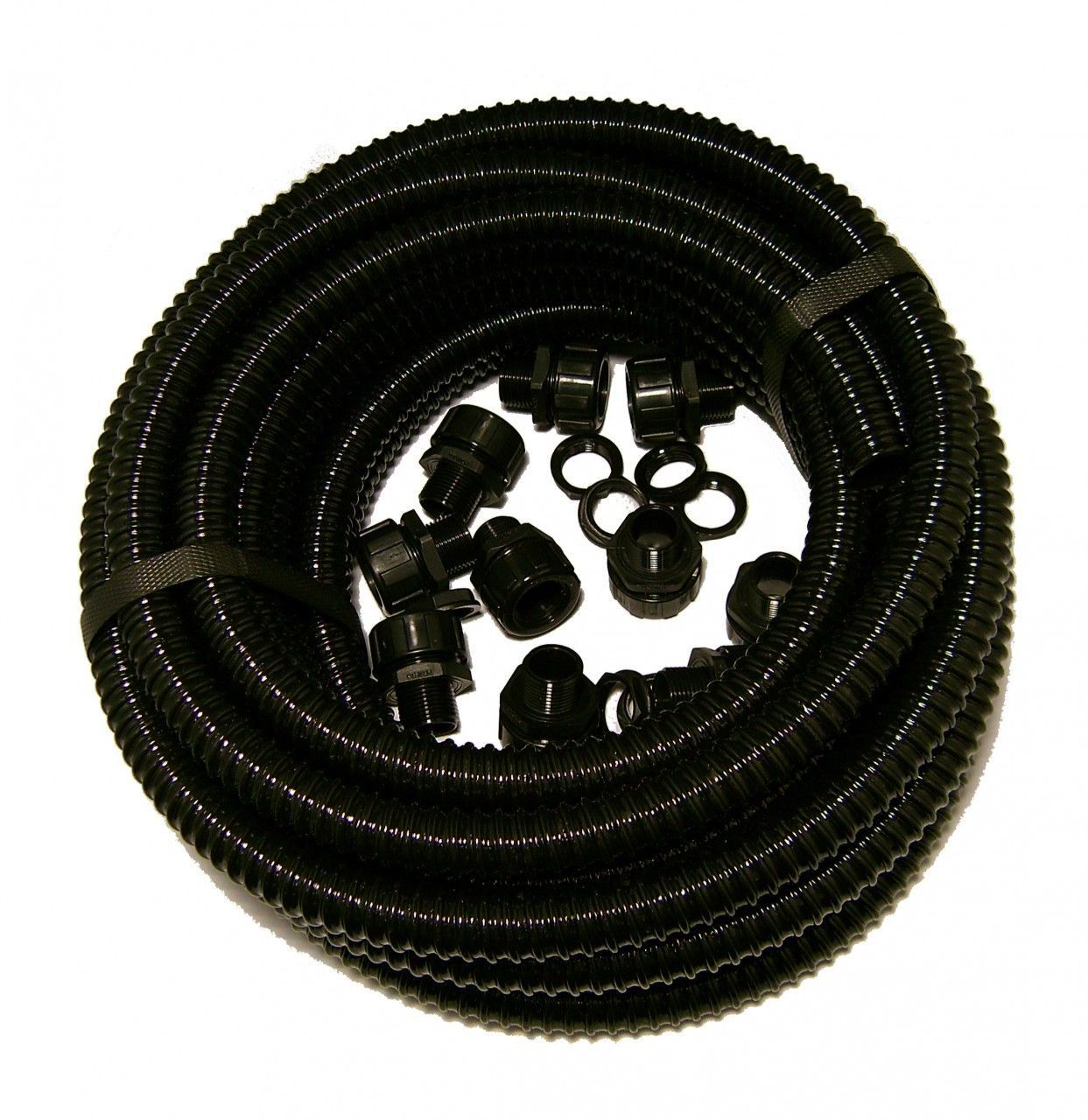 20mm Flexible Conduit Contractor Pack With Glands 10 Mtrs