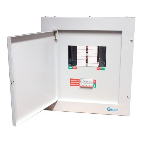 8 Way TPN Distribution Board 125 AMP Mainswitch