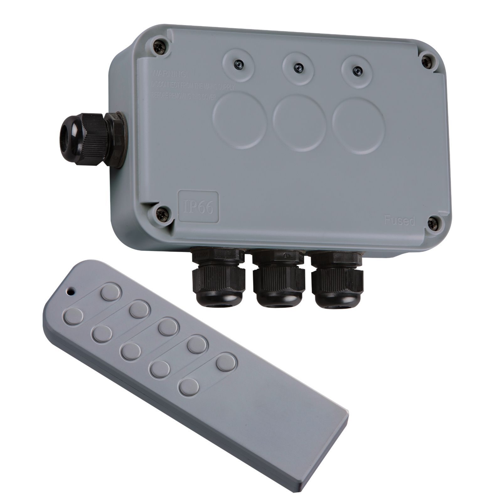 Knightsbridge ip663g outdoor remote controlled wireless lighting switch box kit for Remote control exterior lights