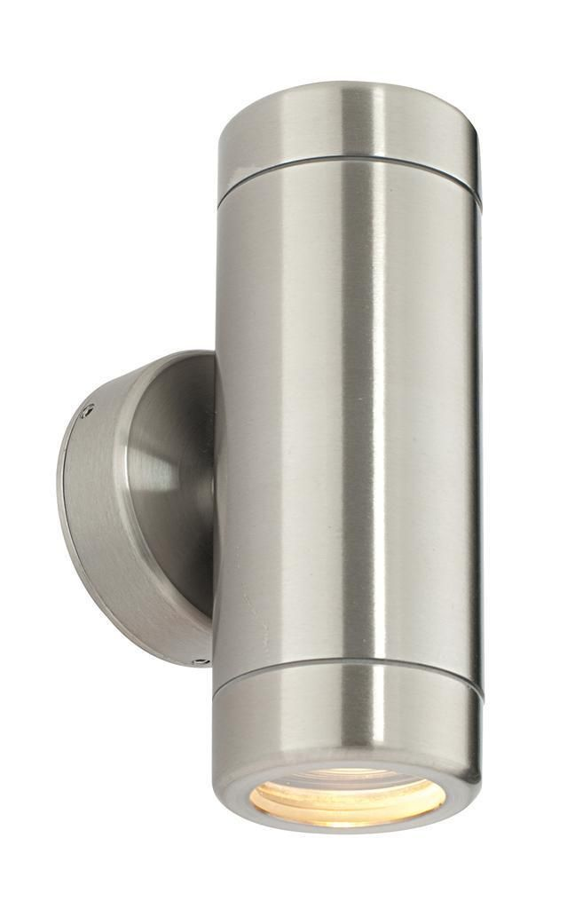 ODYSSEY Twin 35W IP65 Dimmable Stainless Steel Outdoor Wall Light Saxby ST5008S