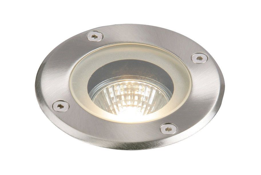 Pillar IP65 50W Recessed Steel Dimmable Halogen Outdoor Uplight ...