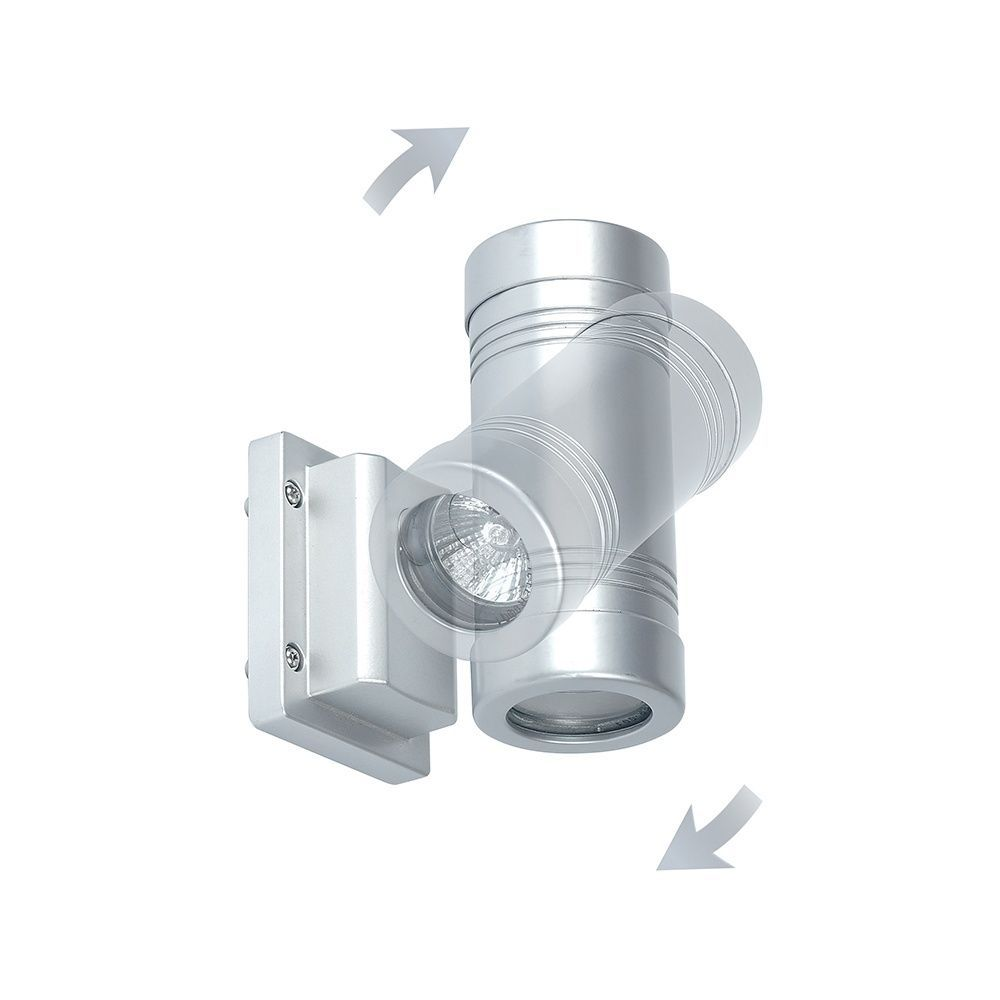 SAXBY GD-710 GIGO Twin Alumnium Directional Head LED IP55 Outdoor Wall Light