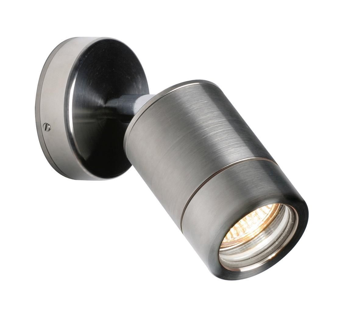 Outside Halogen Wall Lights : Saxby ST5010S ODYSSEY 35W IP65 Dimmable Stainless Steel Outdoor Spot Wall Light