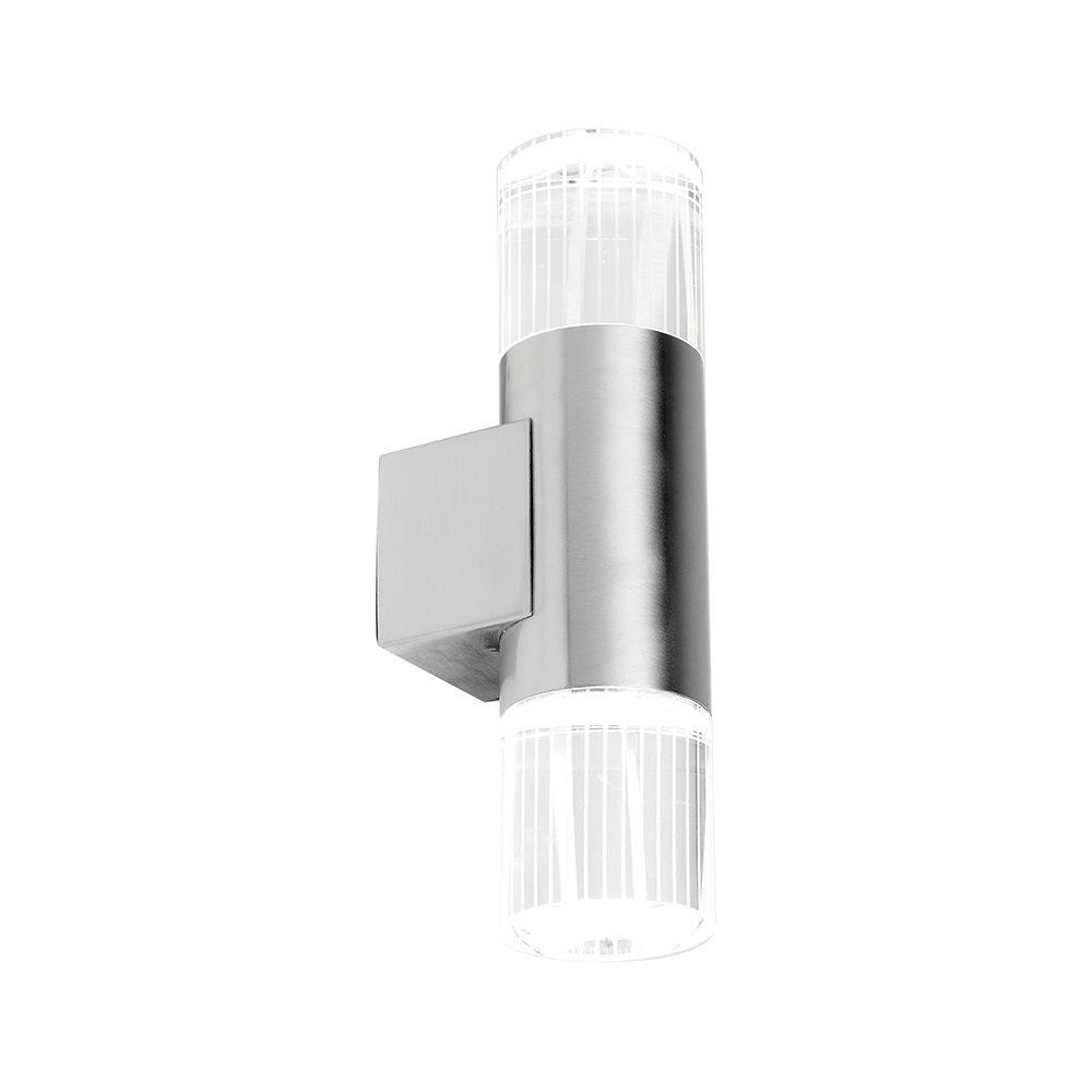Twin External Wall Lights : SAXBY YG-7501 GRANT Twin Stainless Steel Up Down LED Outdoor Wall Light