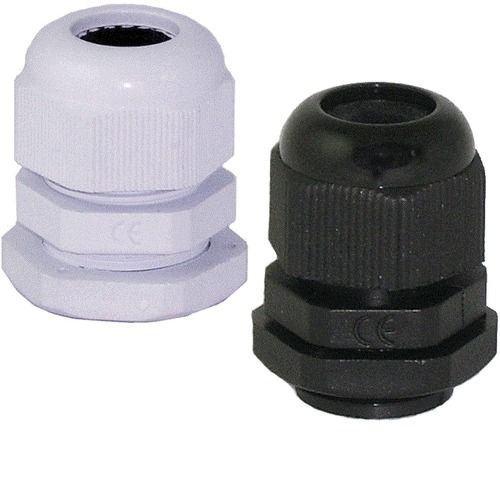 100 X 20mm METRIC NYLON CABLE GLANDS BLACK WHITE RED