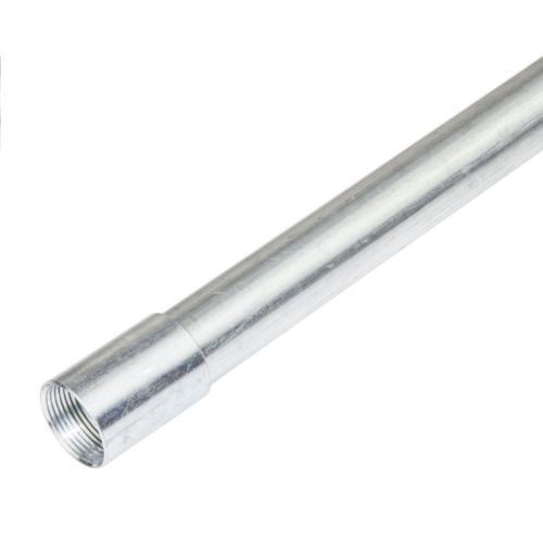 20mm Galvanised Galv Metal Conduit Tube 3M Long Heavy Gauge 3 Meter