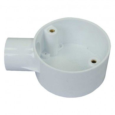 20mm pvc terminal box white