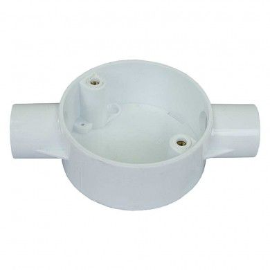 20mm pvc through box white