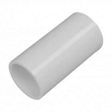 20mm straight coupler White