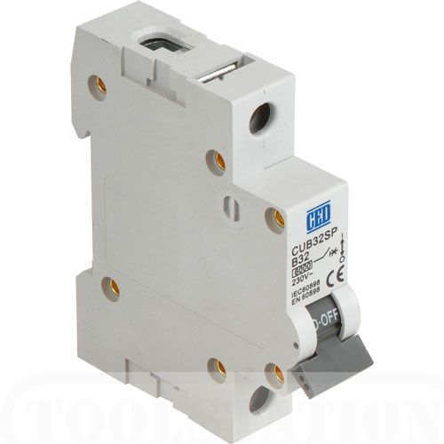CED single pole B type mcb