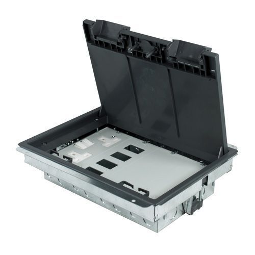 Floor Box Compartment 1 TWIN double Socket + 1- 4 Data + 1 Blank