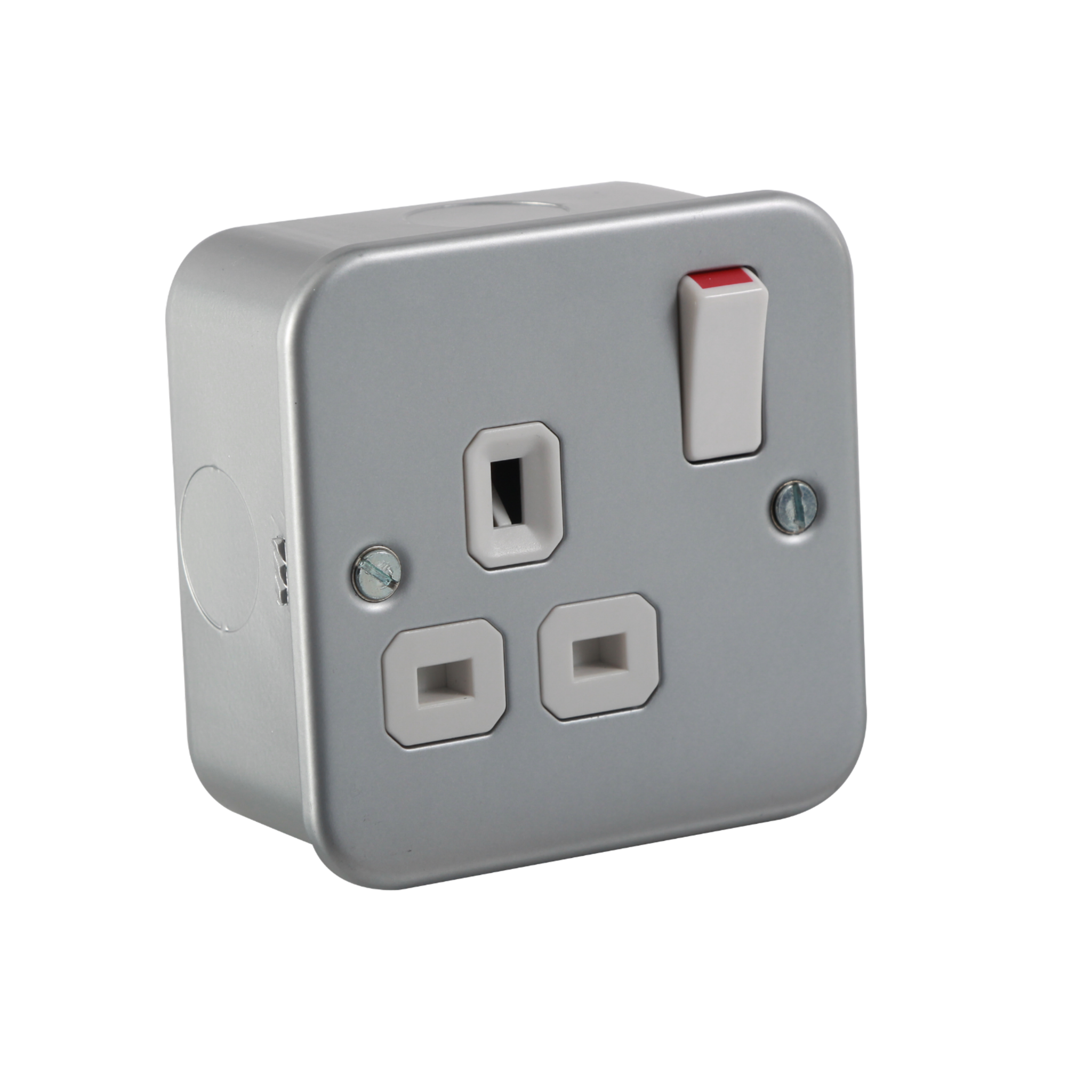 Metalclad 13a 1g Dp Switched Socket 2 Way Outdoor Switch
