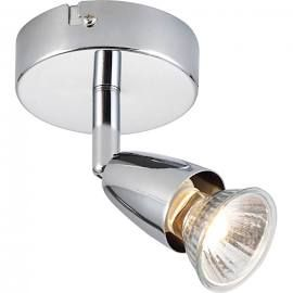 Saxby 43277 AMALFI Chrome Single Halogen Spot Ceiling Light/Dimmable/Adjustable