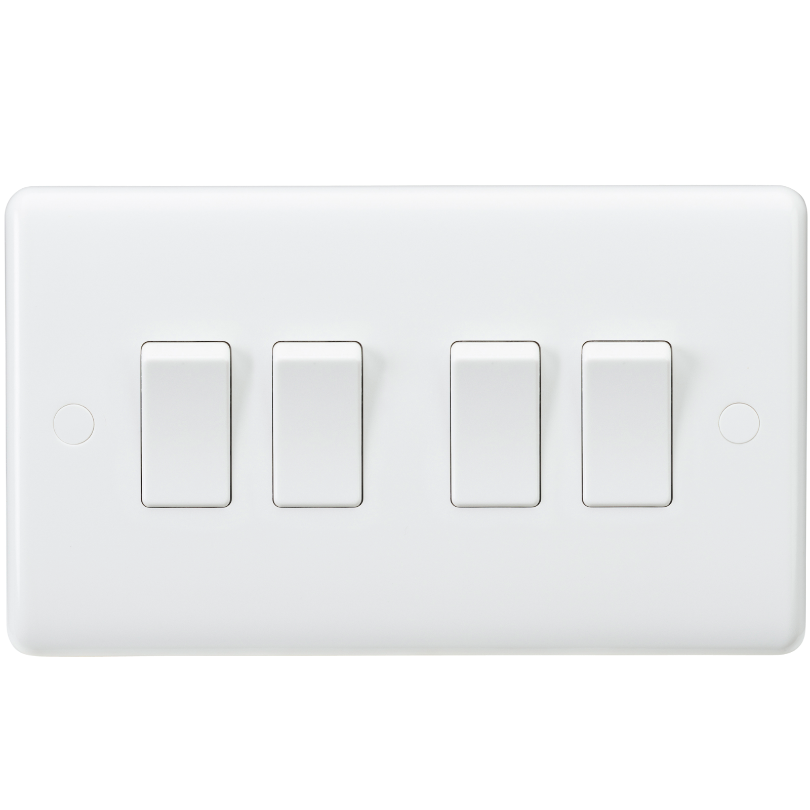 White Curved Edge Wiring Accessories Socket Switch Usb Spur Dimmer 3g 4g Filter Modules Media Modular