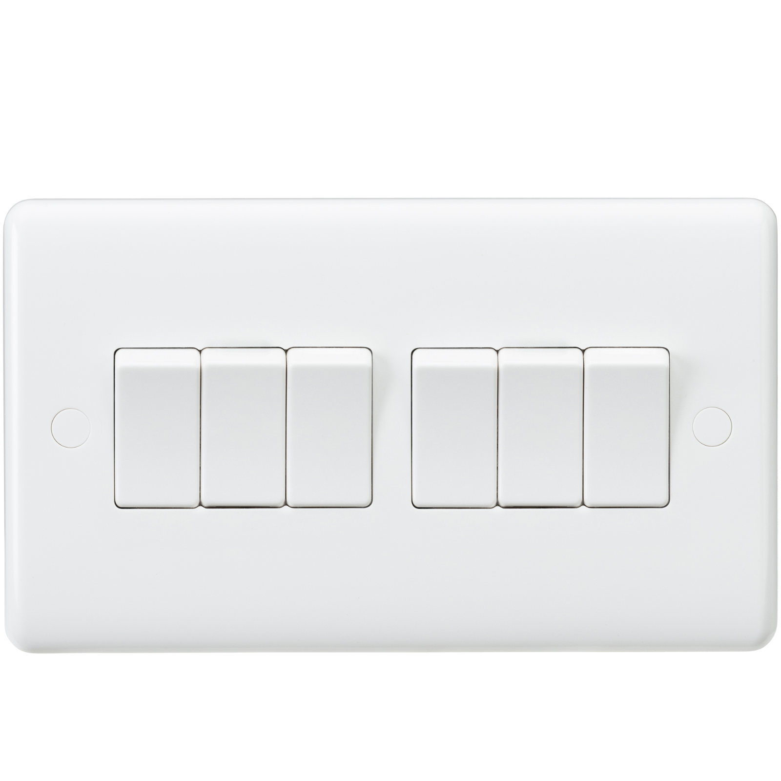 White Curved Edge Wiring Accessories Socket Switch Usb Spur Dimmer Light Media Modular
